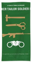 No787 My Tinker Tailor Soldier Spy Minimal Movie Poster Beach Towel