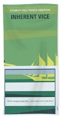 No793 My Inherent Vice Minimal Movie Poster Beach Towel by Chungkong Art