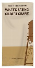No795 My Whats Eating Gilbert Grape Minimal Movie Poster Beach Towel