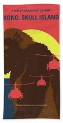No799 My Skull Island Minimal Movie Poster Beach Towel
