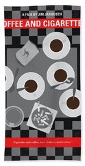 No808 My Coffee And Cigarettes Minimal Movie Poster Beach Towel