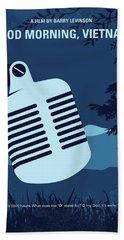 No811 My Good Morning Vietnam Minimal Movie Poster Beach Towel