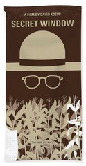 No830 My Secret Window Minimal Movie Poster Beach Towel