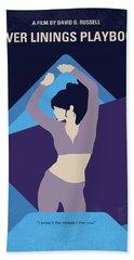No832 My Silver Linings Playbook Minimal Movie Poster Beach Towel