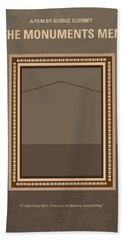 No845 My The Monuments Men Minimal Movie Poster Beach Towel