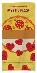 No846 My Mystic Pizza Minimal Movie Poster Beach Towel