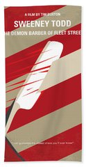 No849 My Sweeney Todd Minimal Movie Poster Beach Towel