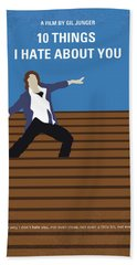 No850 My 10 Things I Hate About You Minimal Movie Poster Beach Towel