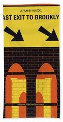 No879 My Last Exit To Brooklyn Minimal Movie Poster Beach Towel