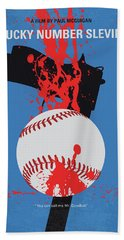 No880 My Lucky Number Slevin Minimal Movie Poster Beach Towel