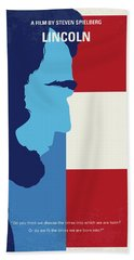 No895 My Lincoln Minimal Movie Poster Beach Towel