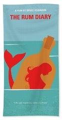 No925 My The Rum Diary Minimal Movie Poster Beach Towel