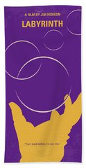 No928 My Labyrinth Minimal Movie Poster Beach Towel