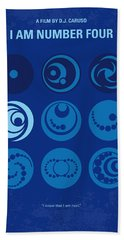 No937 My Am Number Four Minimal Movie Poster Beach Towel