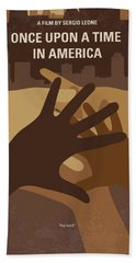 No942 My Once Upon A Time In America Minimal Movie Poster Beach Towel