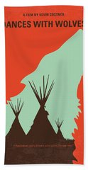 No949 My Dances With Wolves Minimal Movie Poster Beach Towel