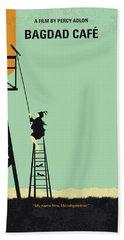 No964 My Bagdad Cafe Minimal Movie Poster Beach Towel