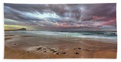 Nobbys Beach At Sunset Beach Towel