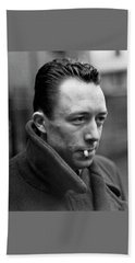 Nobel Prize Winning Writer Albert Camus Unknown Date #1 -2015 Beach Sheet by David Lee Guss