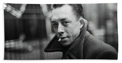 Nobel Prize Winning Writer Albert Camus  Unknown Date Or Photographer -2015           Beach Sheet