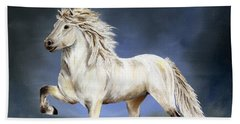 Nobility  Icelandic Horse Beach Towel by Shari Nees