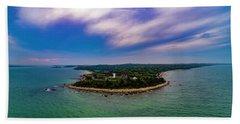 Nobska Lighthouse Panorama Beach Sheet