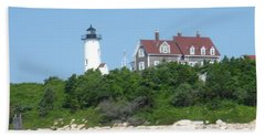 Nobska Point Lighthouse Beach Towel