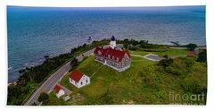 Nobska Point Lighthouse Beach Towel
