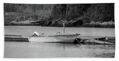 Noca Scotia In Black And White  Beach Sheet by Trace Kittrell