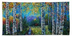Nocturne Blue - Palette Knife Beach Towel
