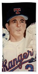 Beach Towel featuring the painting Nolan Ryan Medley by Rosario Piazza