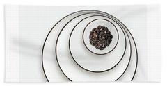 Nonconcentric Dishware And Coffee Beach Sheet by Joe Bonita