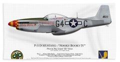 Nooky Booky I V - P-51 D Mustang Beach Towel