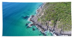 Beach Towel featuring the photograph Noosa National Park Aerial View by Keiran Lusk