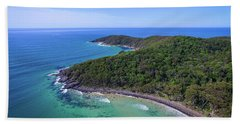 Beach Towel featuring the photograph Noosa National Park Coastal Aerial View by Keiran Lusk
