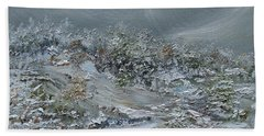 Beach Towel featuring the painting Nor'easter by Judith Rhue