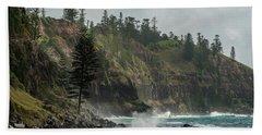 Beach Sheet featuring the photograph Norfolk Island Coastline 01 by Werner Padarin