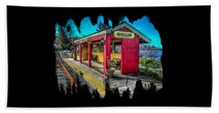 Beach Towel featuring the photograph Norm Laknes Train Station by Thom Zehrfeld