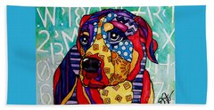 Norman  Beach Towel by Jackie Carpenter