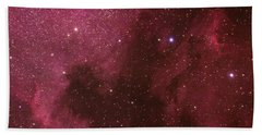 North American And Pelican Nebulas Beach Towel