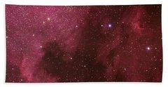 North American And Pelican Nebulas Beach Sheet