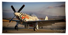 North American P-51d Mustang Buzzin Cousin Beach Towel