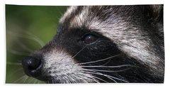 North American Raccoon Profile Beach Sheet by Sharon Talson