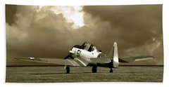 Beach Sheet featuring the photograph North American T6 by Tim McCullough