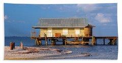 North Captiva Island Last Stilt House Standing Beach Towel