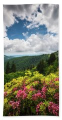 North Carolina Appalachian Mountains Spring Flowers Scenic Landscape Beach Towel