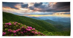 North Carolina Blue Ridge Parkway Scenic Landscape Asheville Nc Beach Towel