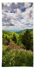 North Carolina Blue Ridge Parkway Scenic Landscape Nc Appalachian Mountains Beach Sheet