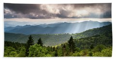 North Carolina Blue Ridge Parkway Scenic Mountain Landscape Beach Towel