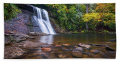 North Carolina Nature Landscape Silver Run Falls Waterfall Photography Beach Towel